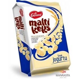 Pilno grūdo sausainiai glaistyti jogurto skonio glaistu MALTIKEKS YOGURT 350g.