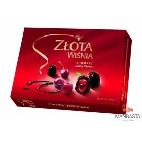 Šokoladiniai saldainiai su alkoholizuotomis vyšniomis likeryje GOLDEN CHERRY 204g