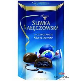 Šokoladiniai saldainiai su  cukrintomis  slyvomis kakavos įdare SLYVA ŠOKOLADE 190g