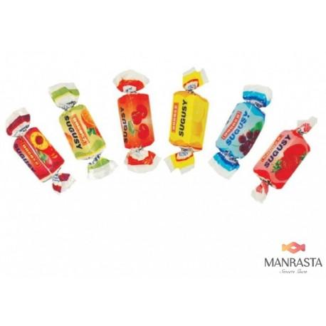Vaisių skonių susikramtomų saldainių rinkinys SUGUSY 1 kg