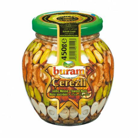 Riešutai (smulkinti) meduje 420 g