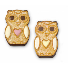 Decorated cookies with cream OWL 1 kg