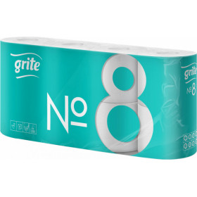 Toilet paper GRITE No8 , 2 ply. 8 pcs
