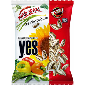 Striped hot pepper-flavored sunflowers Y.E.S. 50 g