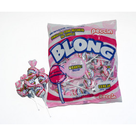 Lollipops with chewing gum BLONG CHERRY 672g