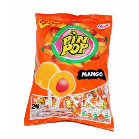 Ledinukai su kramtomaja guma PIN POP MANGO 408g