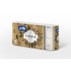 Toilet paper GRITE ECOLOGICAL 3 ply. 8 pcs.