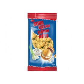 Crispy coated peanuts with sour cream and onion taste JĖGA 200g
