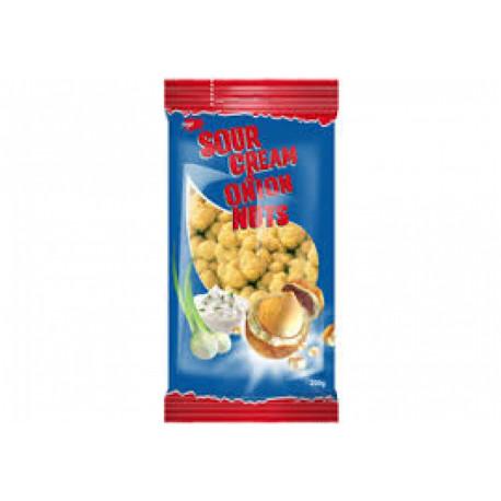 Crispy coated peanuts with sour cream and onion taste JĖGA 200g