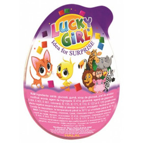 Toy and chewing gum LUCKY GIRL 15g