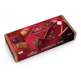 Meduolių su šokoladu, pieniniu šokoladu, baltuoju šokoladu rinkinys LAMBERTZ TIME 200g.