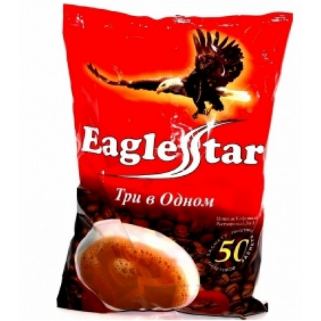 Instant coffee EAGLE STAR 3IN1 18g * 50pcs
