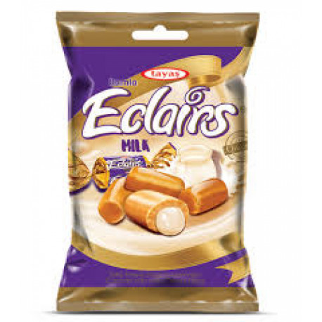 Saldainiai su pieno skonio įdaru ECLAIRS MILK 1kg