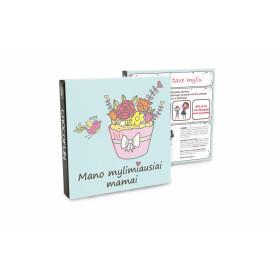 Pieninio šokolado plytelių rinkinys MANO  MAMAI 45g