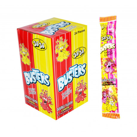 Chewing candy BUSTER TANGY CANDY LEMON - STRAWBERRY 60g