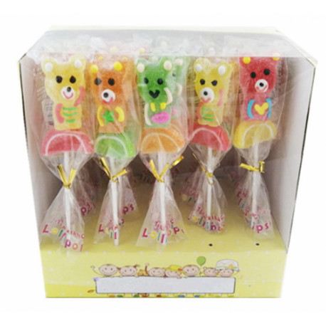 Jelly candies on a stick TEDDY BEAR 20g