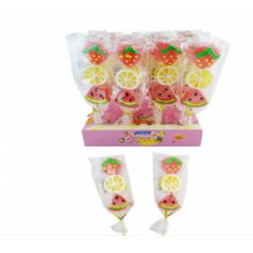 Želiniai saldainiai ant pagaliuko FRUITS 45g