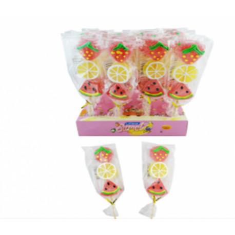 Jelly candy on a stick FRUITS 45g