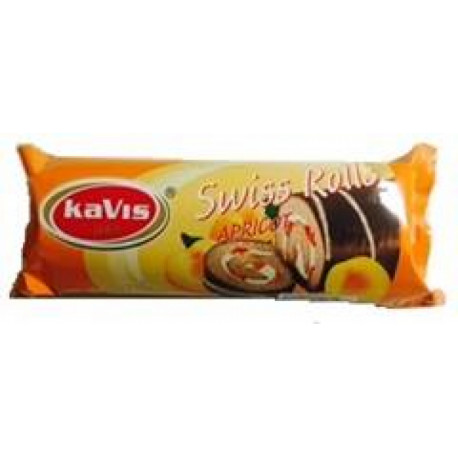 Biscuit roll with apricot filling and cocoa glaze 300g