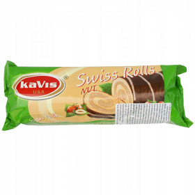 Biscuit roll with nut filling and cocoa glaze 300g